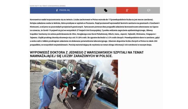 Fałszywe newsy o koronawirusie źródłem internetowych oszustw