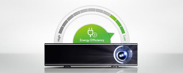 Zużycie energii w projektorach LG Minibeam Nano
