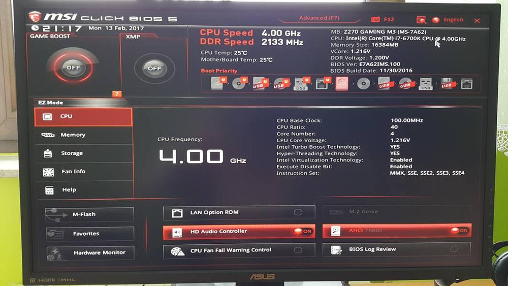 MSI Z270 Gaming M3 BIOS 1