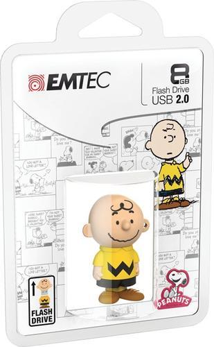 EMTEC Pendrive 8GB Charlie Brown Peanuts PN101