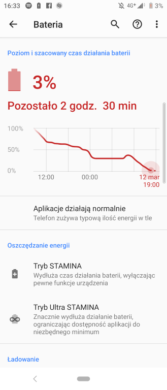 Bateria w Sony Xperii 10