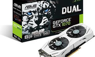 Asus GeForce GTX 1070 DUAL 8GB GDDR5 (256 Bit) DVI, 2xHDMI, 2xDP, BOX (DUAL-GTX1070-8G)