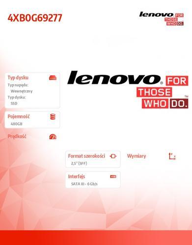 "Lenovo ThinkStation 480GB SATA 2.5"" 6Gbps SSD"