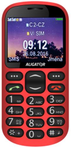 Aligator GPS Senior Dual SIM Czerwony (A880)