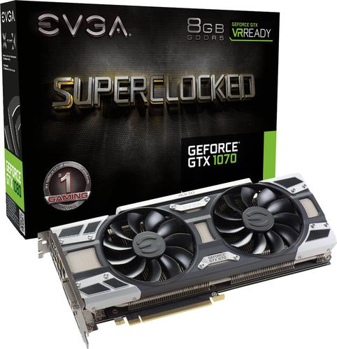 EVGA GeForce GTX1070 SC Gaming 8GB GDDR5 (256 bit) 3x DP, DVI-D,