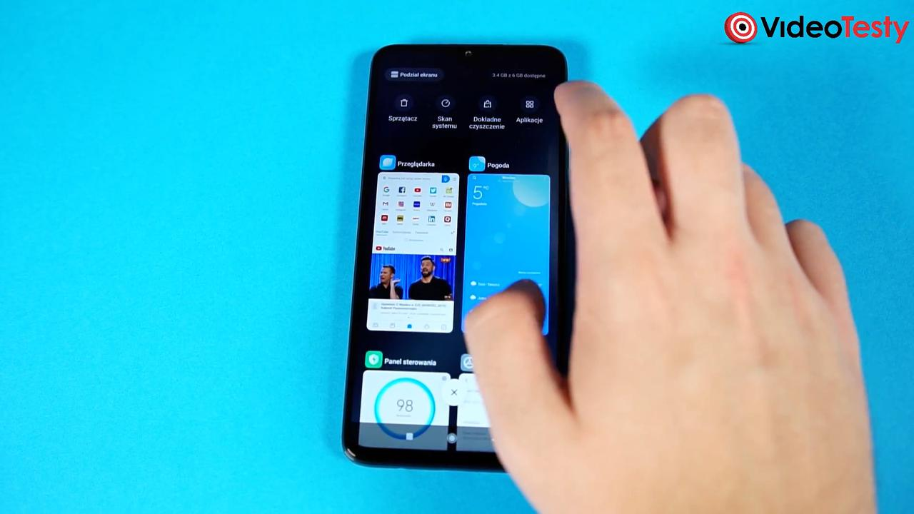 Redmi Note 8 Pro posiada sensowną listę ostatnich aplikacji