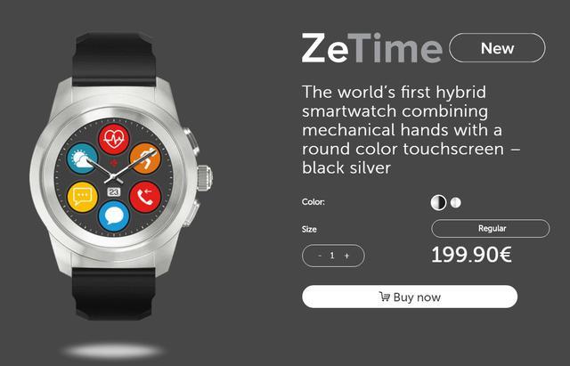 Zegarek ZeTime podbił serca użytkowników Kickstartera.