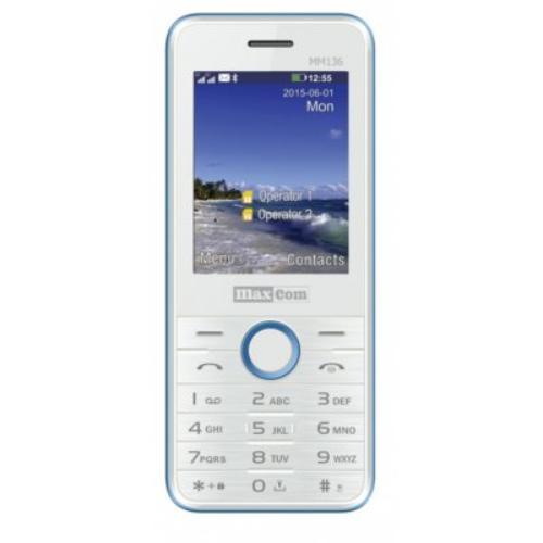 Maxcom MM 136 Dual SIM GSM Biało-Niebieski