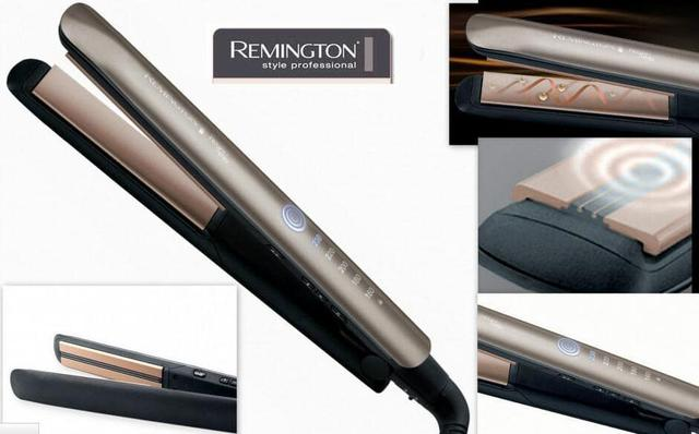 popularna Remington Keratin Therapy S8590 wygląd płytki i wyświetlacz