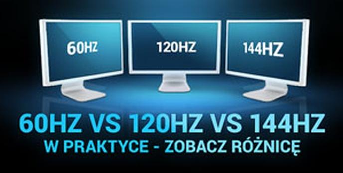 60Hz VS 120Hz VS 144Hz w Praktyce - Zobacz Różnicę