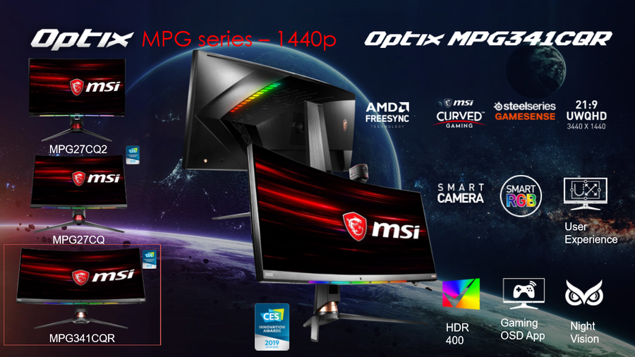 MSI - Monitory 1440p