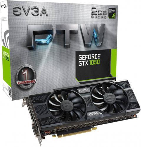 EVGA GeForce GTX 1050 FTW GAMING 2GB GDDR5 (128 bit), DVI-D, HDMI, DisplayPort, BOX (02G-P4-6157-KR)