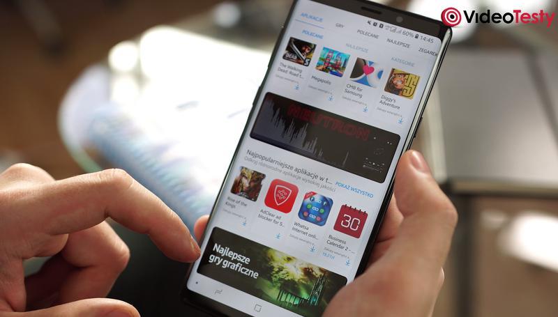 Note 9 korzysta ze sklepu Galaxy Apps