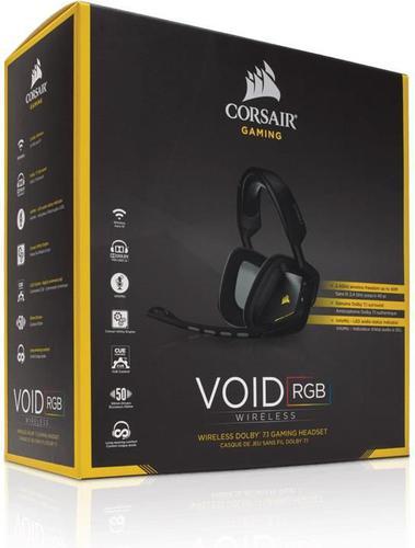 Corsair VOID Wireless RGB CUE Dolby 7.1 Black (CA-9011132-EU)Zaawansowany dźwięk w grachZaawansowany dźwięk w grach