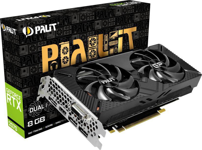 Palit RTX 2070 Dual 8GB GDDR6 256bit HDMI+3DP+DVI-D PCIe3.0