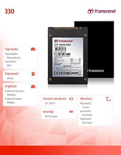Transcend 330 128GB 2.5' IDE 118/93 MB/s
