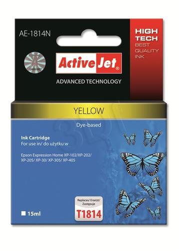 ActiveJet AE-1814N tusz żółty do drukarki Epson (zamiennik Epson T1814) Supreme