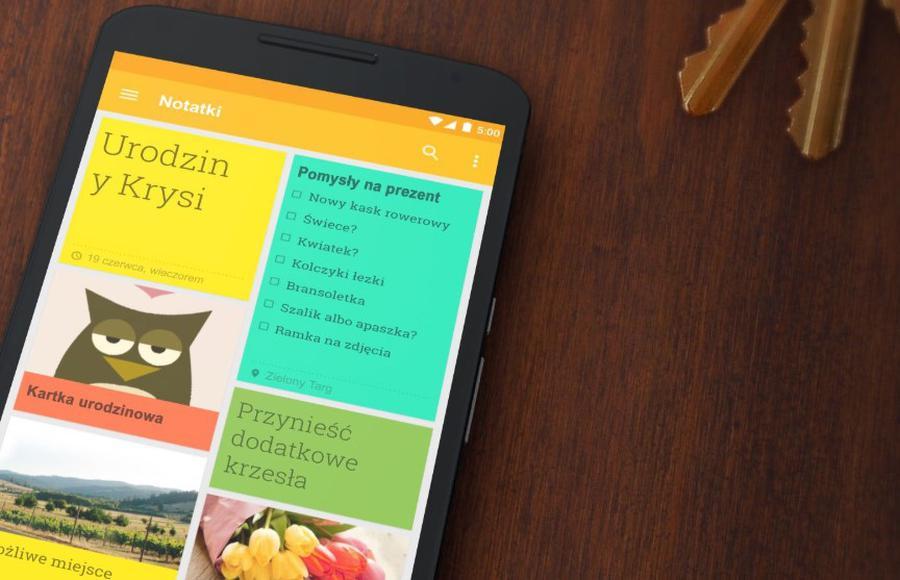 Google Keep oferuje szybką synchronizację