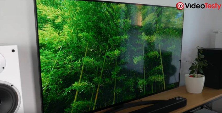 LG 55SM8600 elegancki tv i obraz na nim