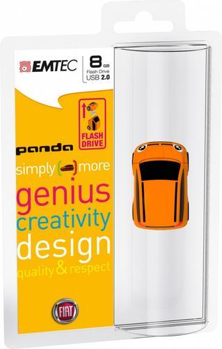 EMTEC Pendrive 8GB Fiat Panda Orange F102