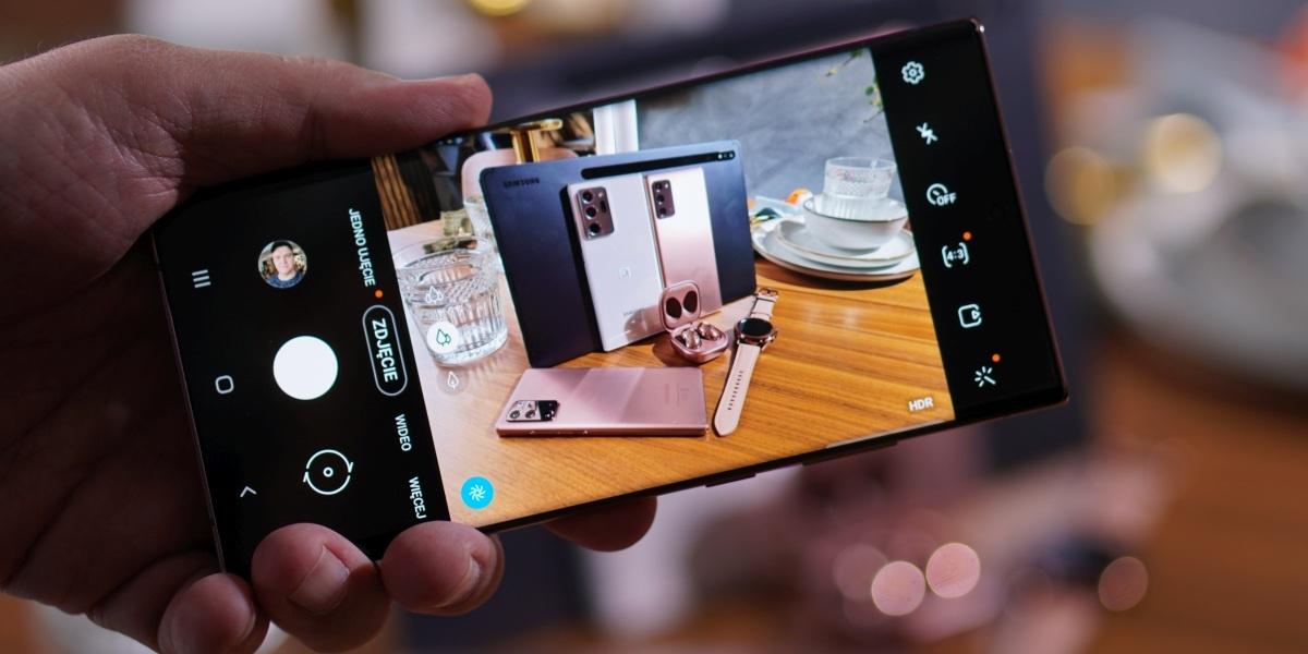 Interfejs aparatu w Samsungu Galaxy Note 20 nie uległ dużym zmianom