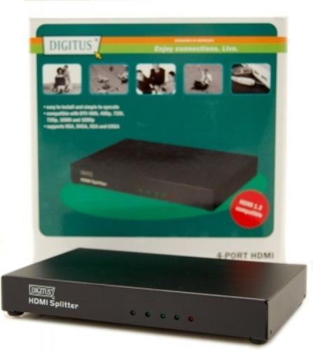 SPLITTER SYGNAŁU HDMI 1 -> 4 (25-165 MHz)