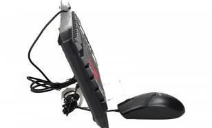 A4 TECH Zestaw klawiatura PS2 KM-100+ mysz USB czarny