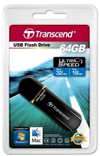 Transcend JETFLASH 600 64GB USB2.0 BLACK 32/18 MB/s High-Speed 200x