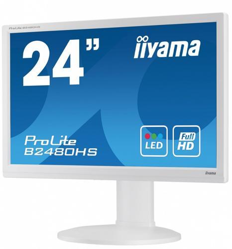 iiyama 24'' B2480HS-W1 / DVI/HDMI/głośniki (biały)