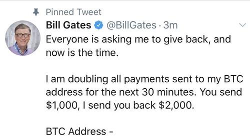 Fałszywy tweet Billa Gatesa
