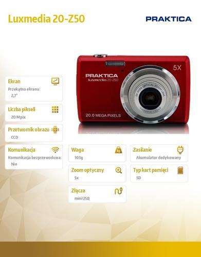 Praktica Luxmedia 20-Z50 czerwony