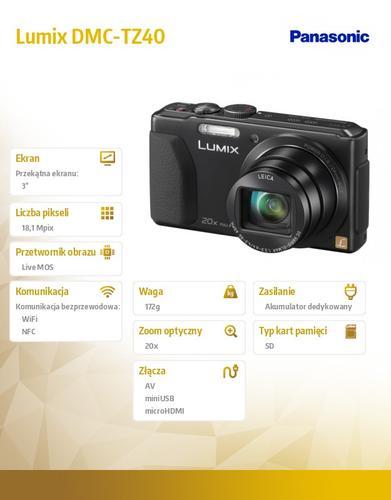 Panasonic Lumix DMC-SZ DMC-TZ40 black