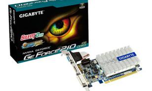 Gigabyte GeForce CUDA GF210 1GB DDR3 PCI-E 64BIT DVI/HD/-SUB BOX