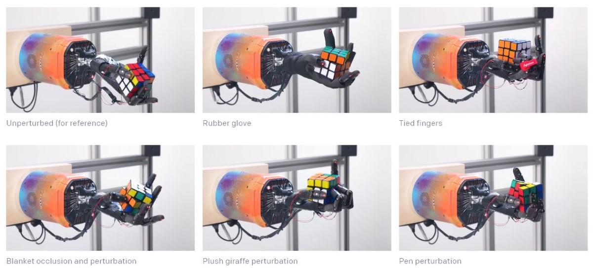 Różne testy robotycznej ręki