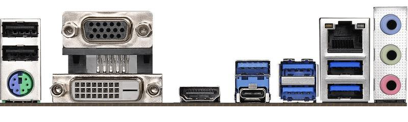 ASRock B450M Pro4 - porty