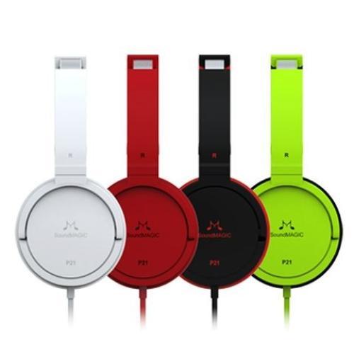 SoundMAGIC P21 Czerwone słuchawki nauszne
