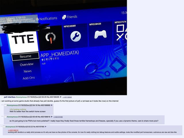 Interfejs PS5 wygląda dość znajomo