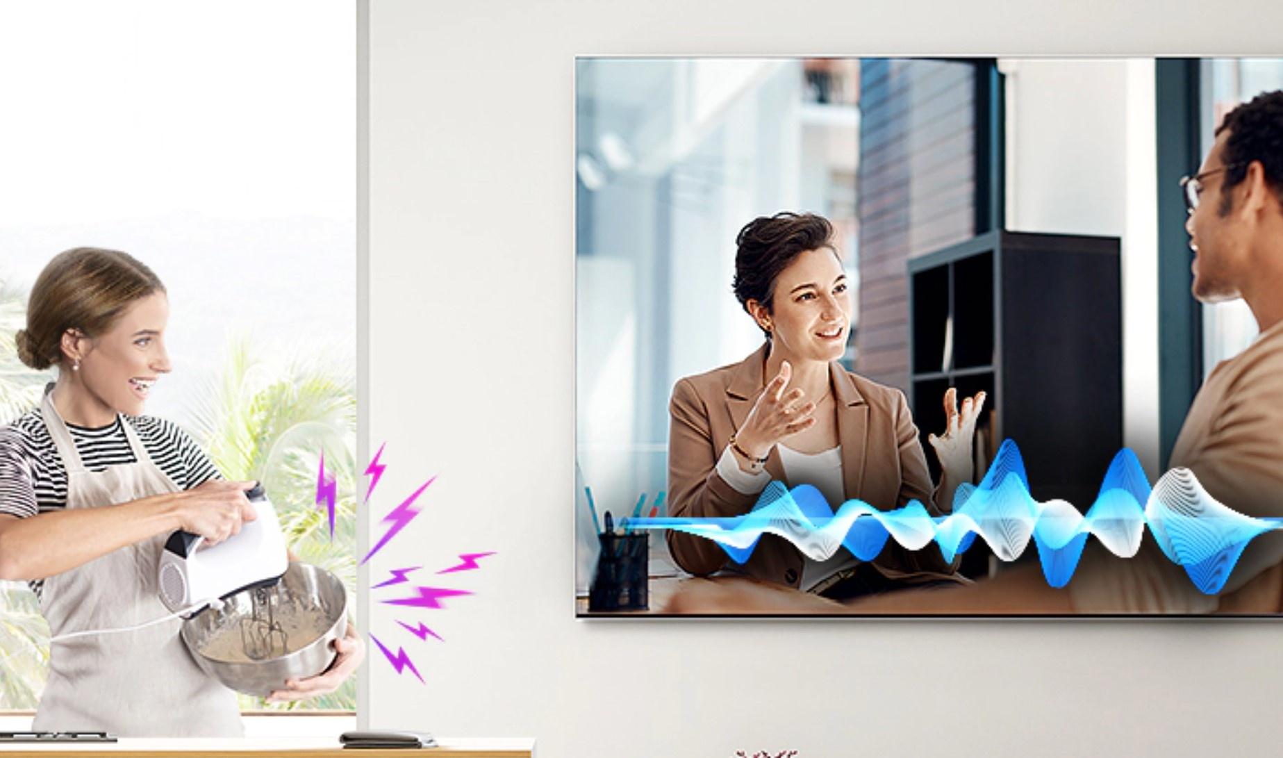 wygodne korzystanie z dużego telewizora Samsung QLED 8K