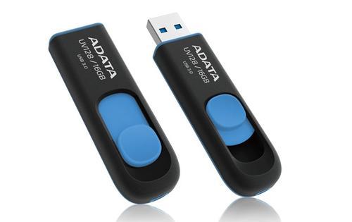A-Data DashDrive UV128 16GB USB3.0 czarno - niebieski 40MB / 20MB