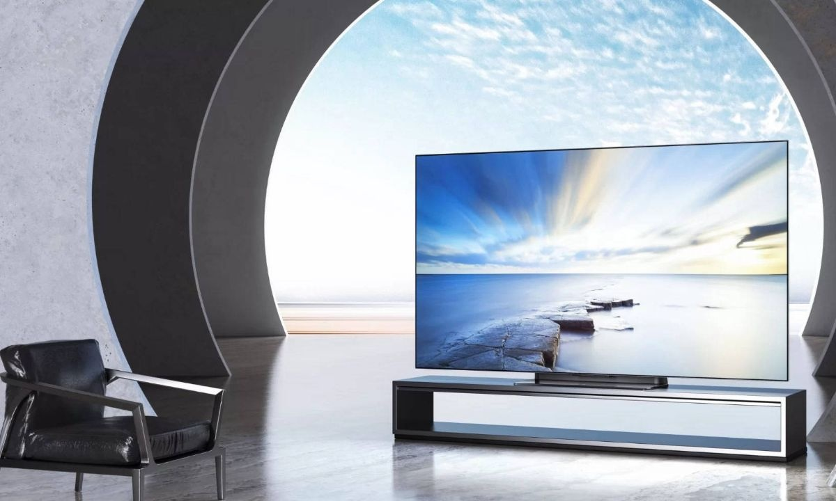 Grafika przedstawiająca nowy telewizor od Xiaomi