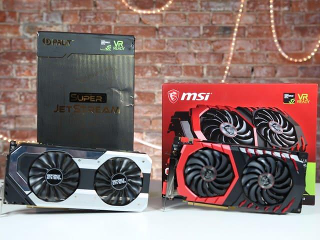 MSI GTX 1070 Ti Gaming vs Palit GTX 1070 Ti SuperJestream