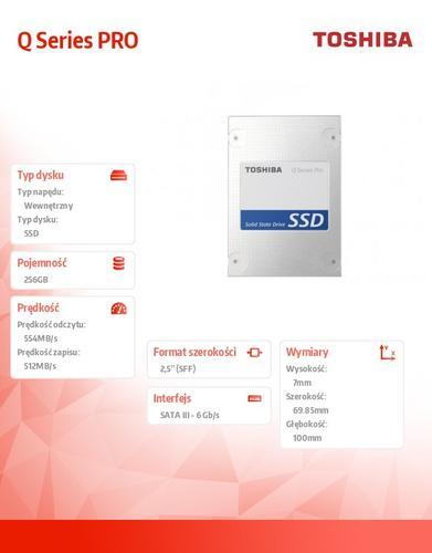 Toshiba Q Series PRO 256GB SATA3 2,5' 554/512MB/s 7mm