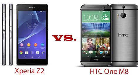 HTC ONE M8 vs SONY Xperia Z2