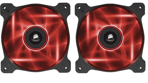 Corsair AF120 LED Red Quiet Edition Twin Pack