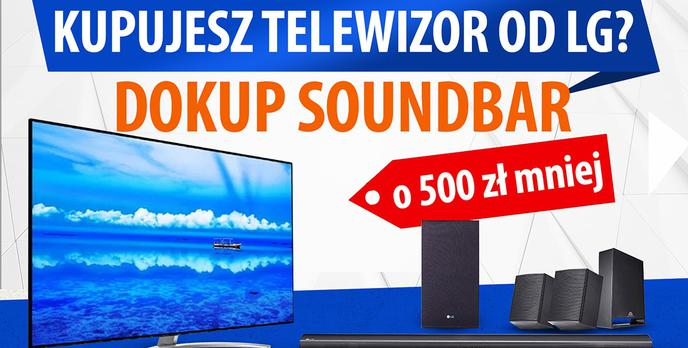Soundbar LG 500 zł taniej - Do telewizora