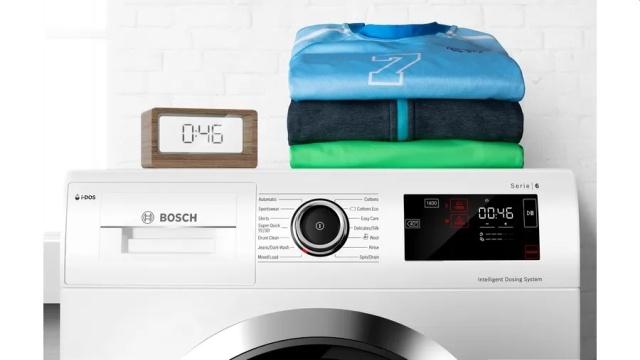 Pralka Bosch z systemem Speedperfect sprawdzi się przy błyskawicznych praniach