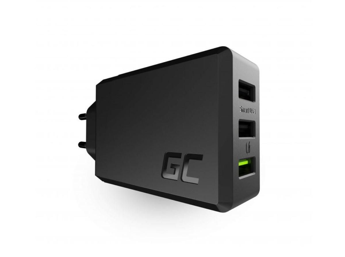 Green Cell Charge Source 3x USB 30W na białym tle