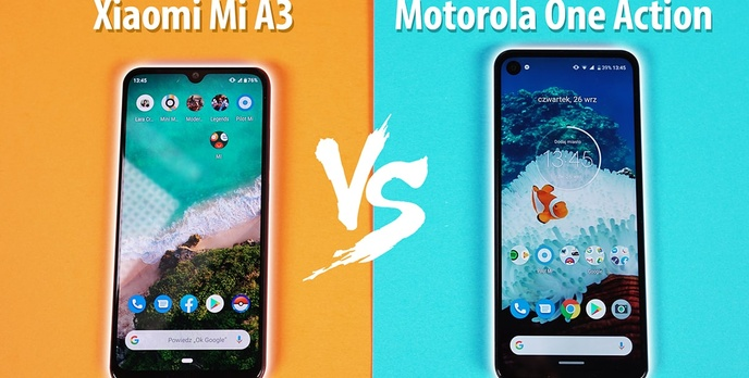 Motorola One Action vs Xiaomi Mi A3 - Który Android One do 1000 zł?