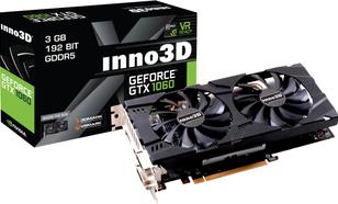 Inno3D GeForce GTX1060 Twin X2 3GB GDDR5 (192 Bit) 2xDVI, HDMI, DP, BOX (N106F-2SDN-L5GS)