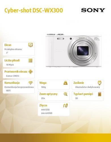 Sony Cyber-shot DSC-WX300 silver